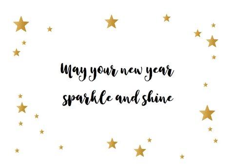 Nieuwjaarskaart let's sparkle 3