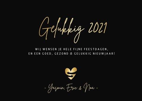 Nieuwjaarskaart lichtpuntjes in 2021 met 2 foto's 3