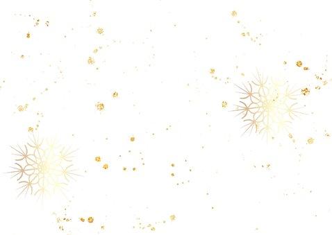 Nieuwjaarskaart met 2020 in hout met goud 2