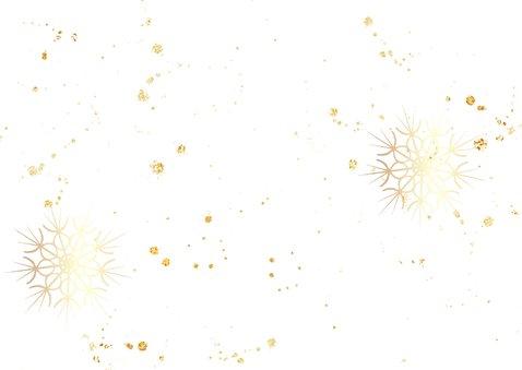 Nieuwjaarskaart met 2021 in hout met goud 2