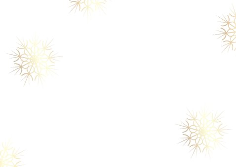 Nieuwjaarskaart met 2021 in hout met goud Achterkant
