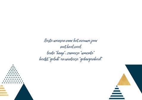 Nieuwjaarskaart met driehoeken 3
