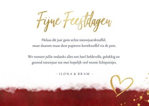 Nieuwjaarskaart met foto & nieuwjaarsknuffel in gouden hart 3