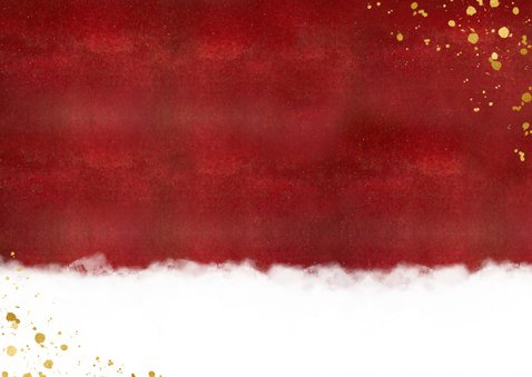 Nieuwjaarskaart met foto & nieuwjaarsknuffel in gouden hart Achterkant