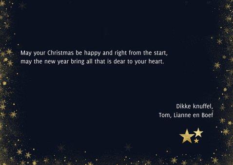 Nieuwjaarskaart met foto's, typografie en hangende sterren 3