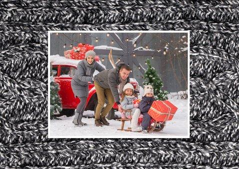 Nieuwjaarskaart Sending Warm Wishes 3 trui grijs 2