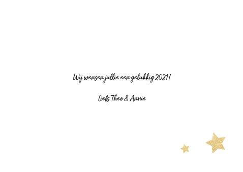 Nieuwjaarskaart sterren 3