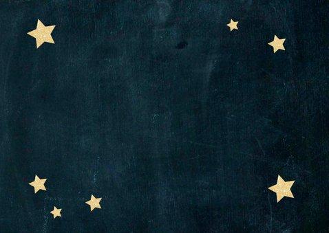 Nieuwjaarskaart sterren Achterkant