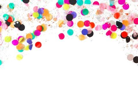 Nieuwjaarskaart tekst grappig goud glitter look 2