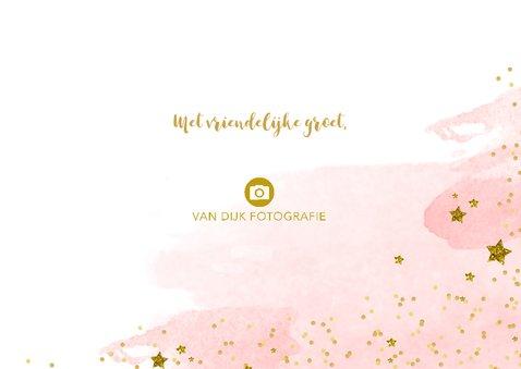 Nieuwjaarskaart zakelijk tekst aquarel glitter 3