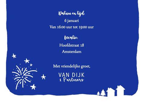 Nieuwjaarskaart zakelijk tekst vuurwerk  3