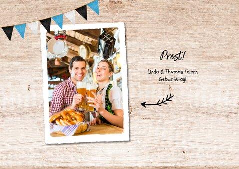 Oktoberfest-Einladungskarte mit Foto 2