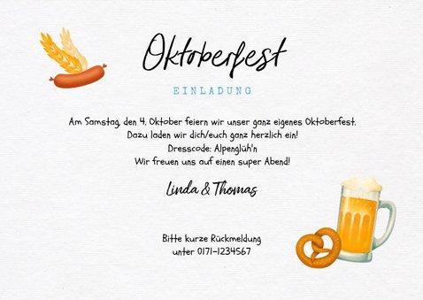 Oktoberfest-Einladungskarte mit Foto 3