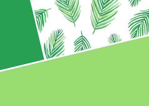 Opa- en omadagkaart met bladeren en foto 2