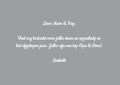 Opa & Oma - Grijs -Label bedankt 3