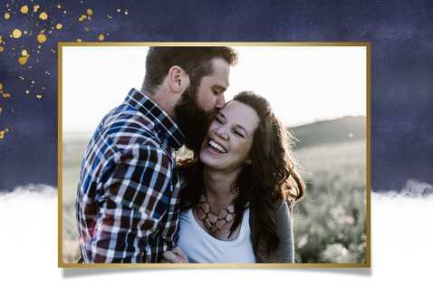 Originele valentijnskaart man - gouden knuffel hart en foto 2