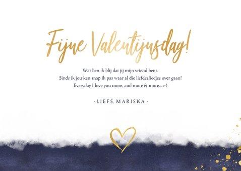 Originele valentijnskaart man - gouden knuffel hart en foto 3