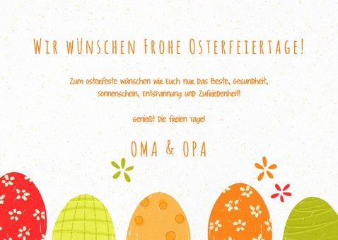 Osterkarte mit Ostereiern 3