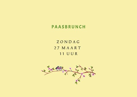 Paas brunch uitnodiging 3