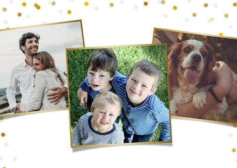 Paaskaart fijne paasdagen met grote eigen foto en goud 2