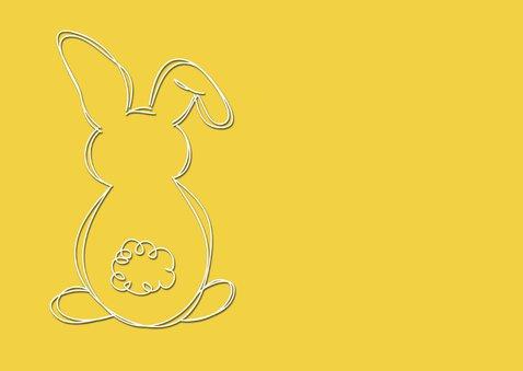 Paaskaart Happy Easter geel - SG 2