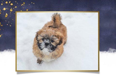 Paaskaart paasknuffel met gouden ei en eigen foto 2