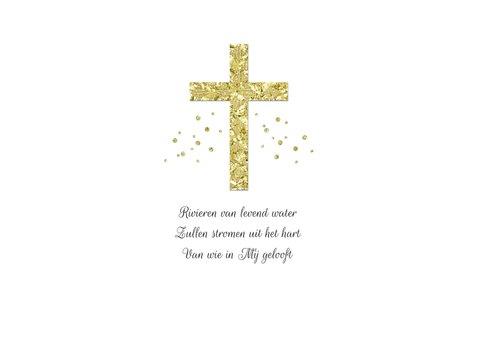 Paaskaart stijlvol christelijk zalig pasen kruis goud foto 2