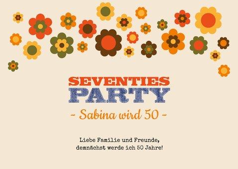 Partyeinladung Seventies Party 2