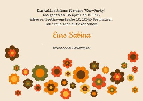 Partyeinladung Seventies Party 3