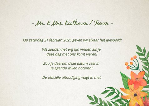 Save the Date Bloem Handlettering 3