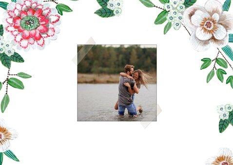 Save the date bloemen botanisch met foto's 2