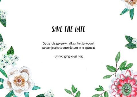 Save the date bloemen botanisch met foto's 3