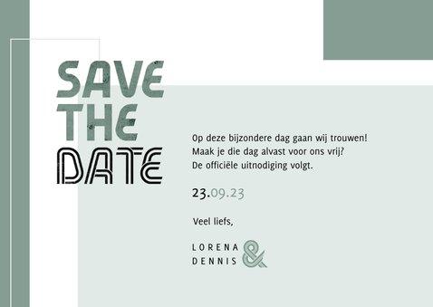 Save the date kaart modern stijlvol foto grafisch 3