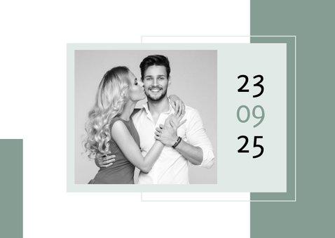 Save-the-Date-Karte Hochzeit Design abstrakt eigene Fotos 2