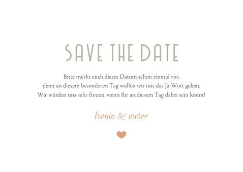 Save-the-Date-Karte Hochzeitsdatum moderne Klassik 3
