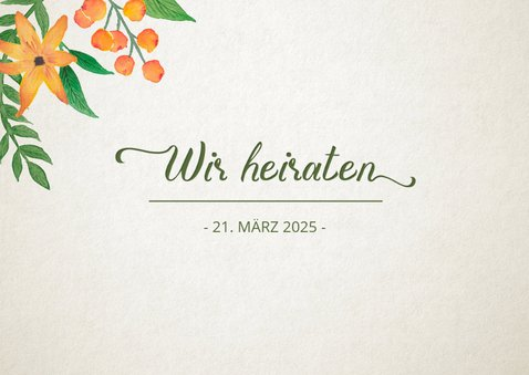 Save-the-Date-Karte Vintage Blumen 2