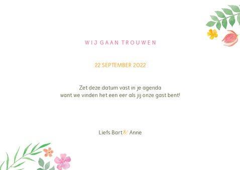 Save the date kleurrijk botanisch 3