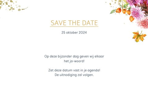 Save the date oldtimer herfst 2