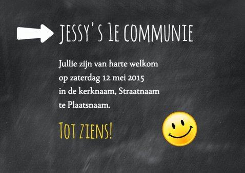 Schoolbord smiley communie-isf 3
