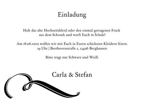 Schwarz-Weiß Mottoparty Script 3