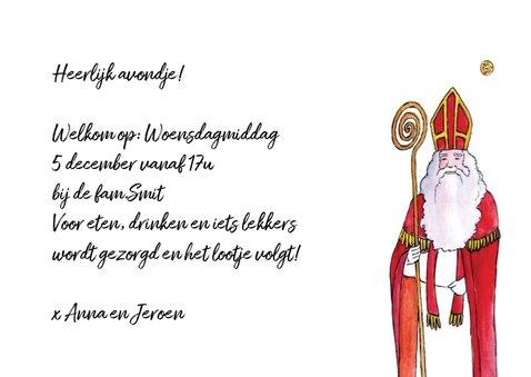 Sinterklaas uitnodiging voor heerlijk avondje 3
