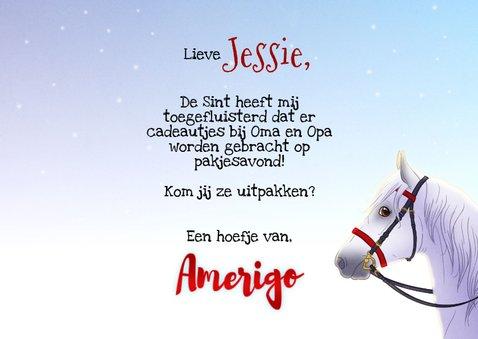 Sinterklaaskaart uitnodiging met Amerigo paard 3