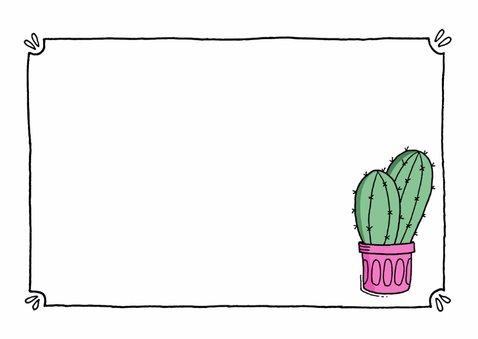 Sterkte kaartje cactus - ST 3