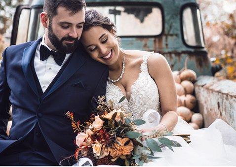 Stijlvol bedankkaartje voor jullie huwelijksdag met 3 foto's 2