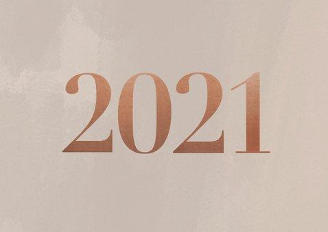 Stijlvol en zakelijk 2021 nieuwjaarskaart met foto's 2
