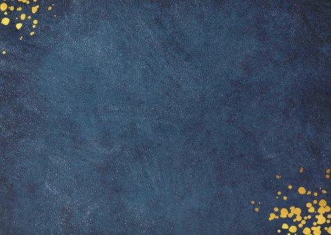 Stijlvolle blauwe zakelijke nieuwjaarskaart jaartal 2021 Achterkant
