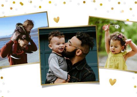 Stijlvolle en persoonlijke vaderdagkaart met eigen fotos 2