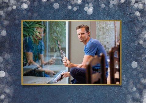 Stijlvolle fotocollage zakelijke kerstkaart met 3 foto's  2