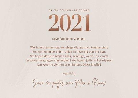 Stijlvolle fotokaart kerst groot 2021 en fotocollage 3
