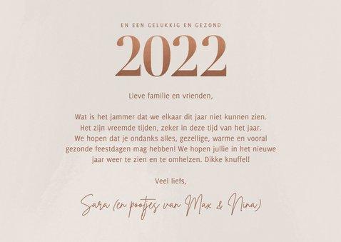 Stijlvolle fotokaart kerst groot 2022 en fotocollage 3